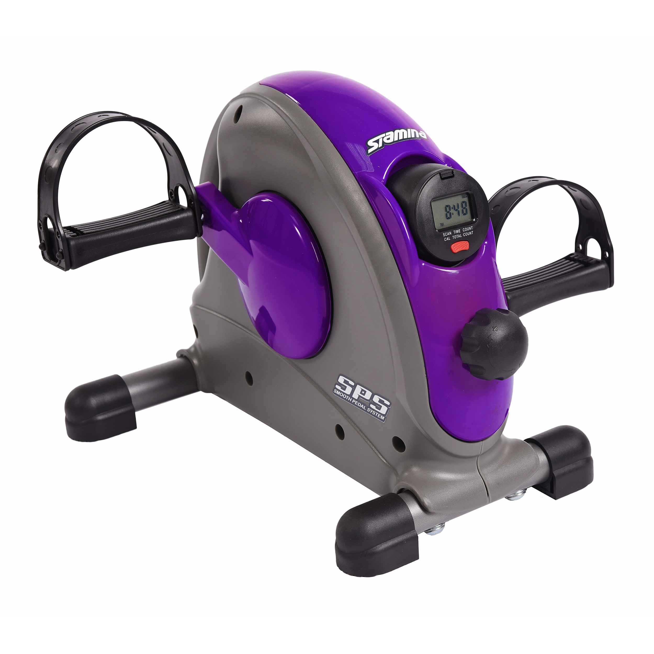 Purple Stamina Mini Exercise Bike with Smooth Pedal System
