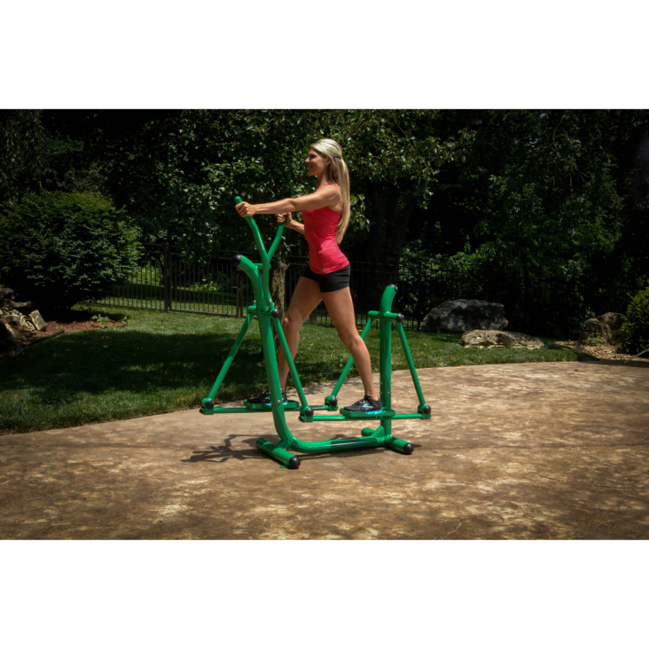 Woman workout on Stamina Outdoor Fitness Strider