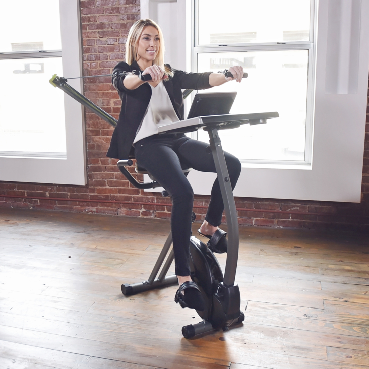 WIRK Ride with Strength System Stamina Products at home exercise bike office equipment