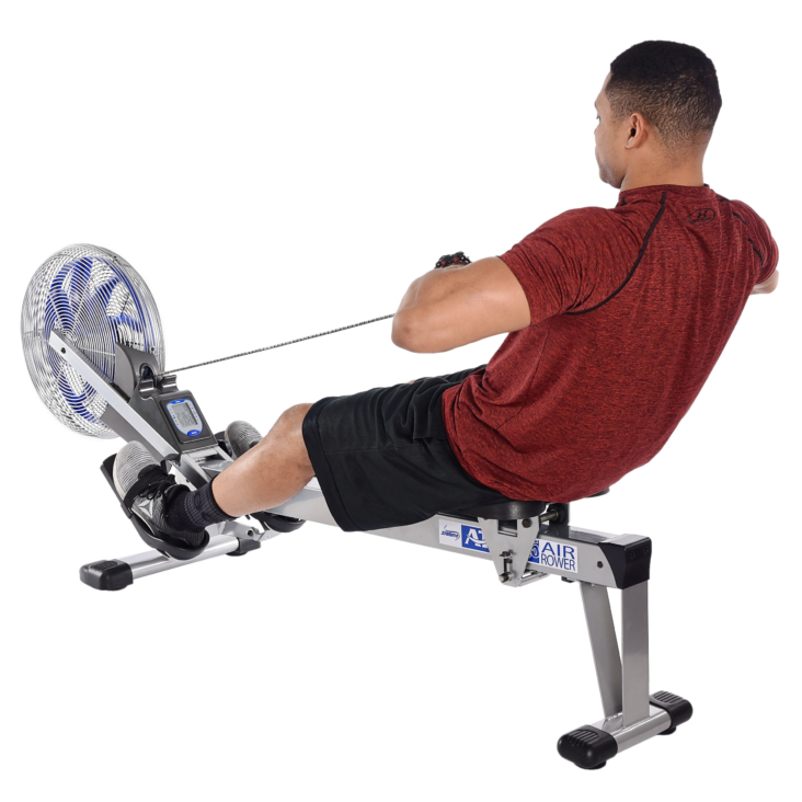 Man performing exercise on Stamina ATS Air Rower 1405.