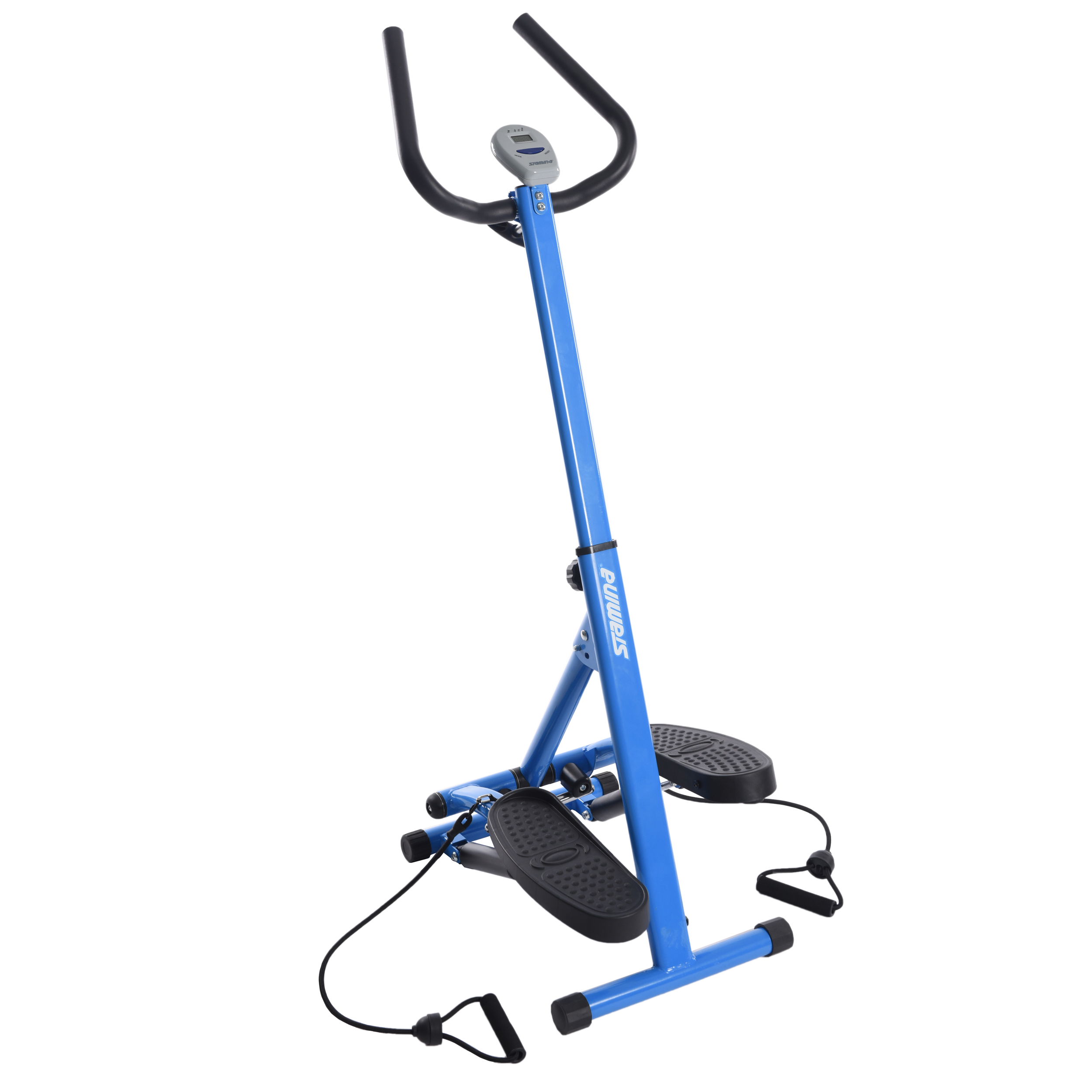 Stamina Space Saving Stepper With Upper Body Cords full view.