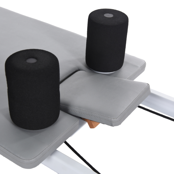 AeroPilates Precision Series Reformer 535 High-density foam shoulder pads.