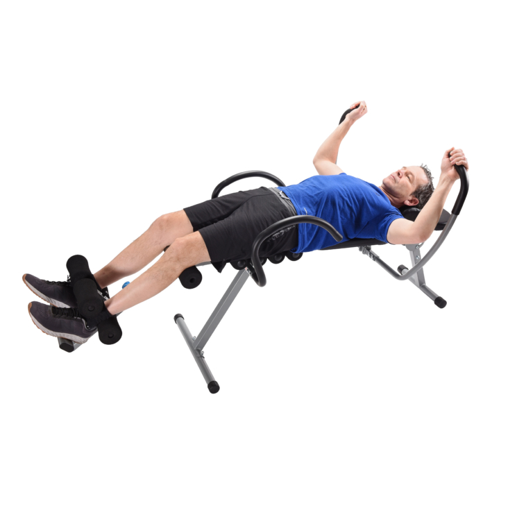Middle age man exercising on Stamina Active Aging EasyDecompress Pro
